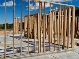advanced search of new homes framing house on cement slab blue skies