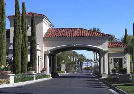 Las Vegas Retirement Communities living in a guard-gated community entrance