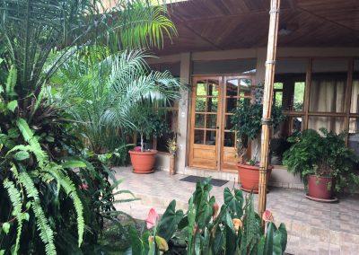 Costa Rica rancho lush double door entrance